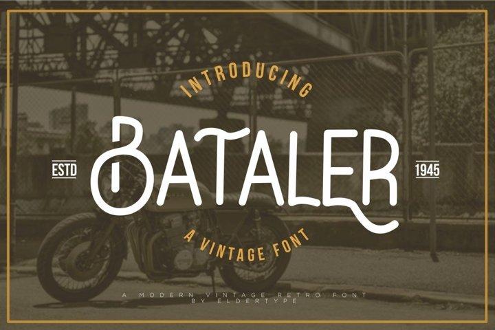 Bataler - Vintage Font