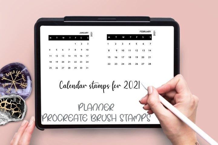 Digital planner brush stamps for Procreate