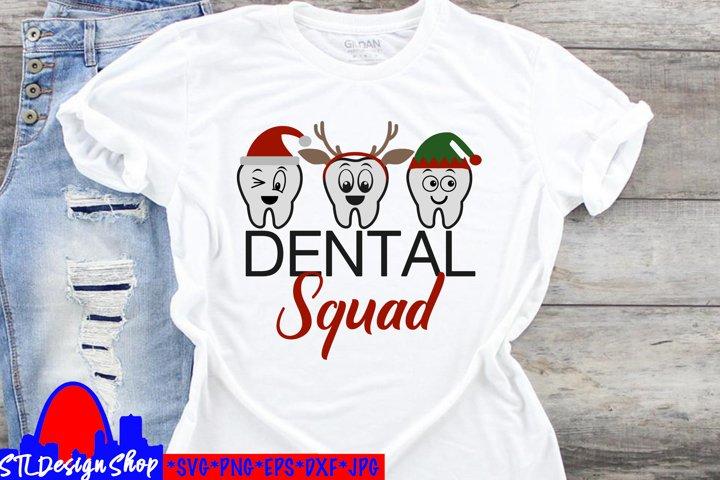 Christmas Dental Squad Hygienist Office Gift SVG Digital