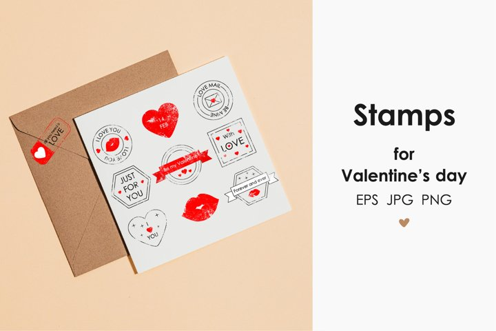 Stamps for Valentines Day