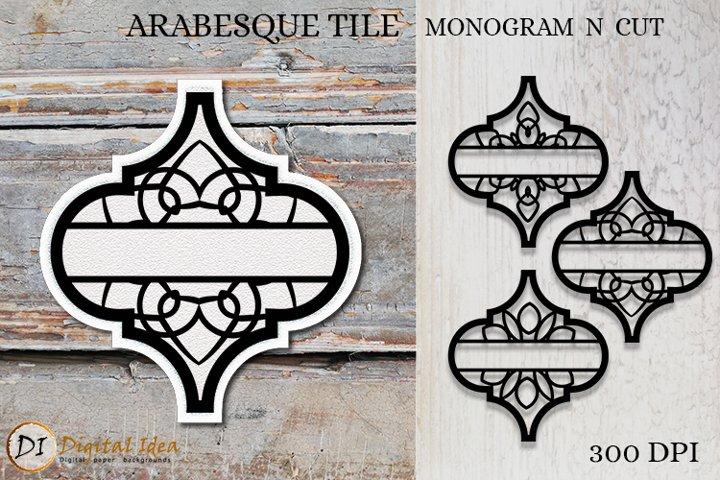 Arabesque Tile Monogram . Arabesque Tile.Monogram Cut