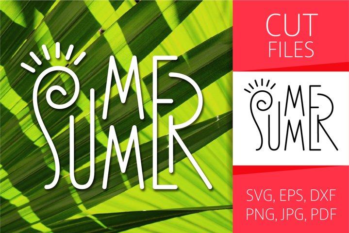 Four Seasons - Summer Word Art | SVG Cut file | Vector EPS