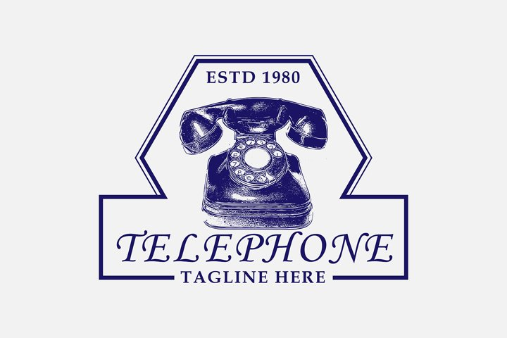 Awesome vintage logo for telephone