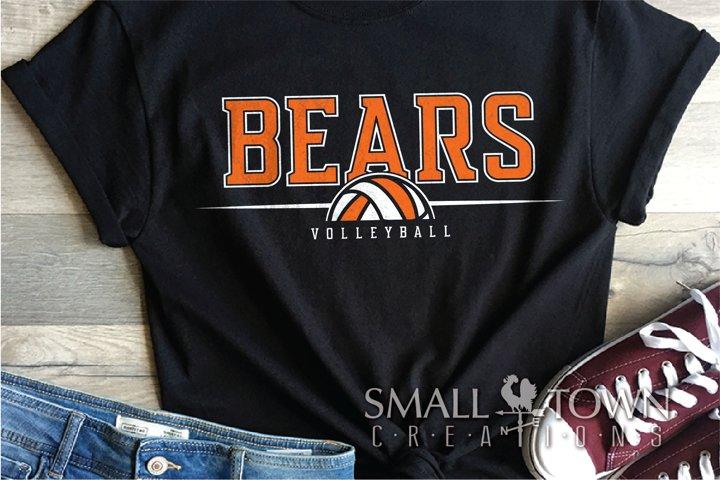 Bear, Bear Volleyball, Sport logo, PRINT, CUT & DESIGN