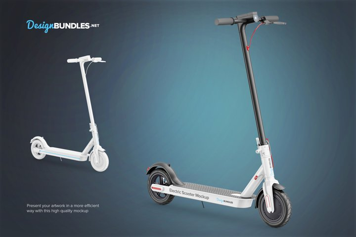 Electric Scooter Mockup example 1
