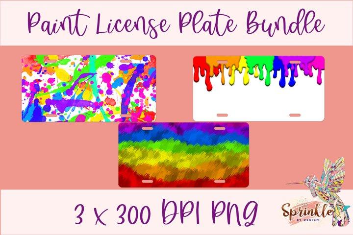Paint License Plate Sublimation Bundle