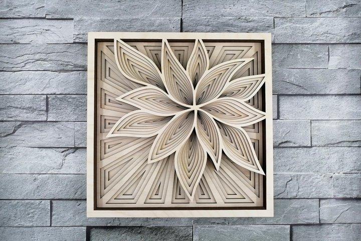 Layered Mandala SVG, Laser cut file, Cricut Mandala, Flower