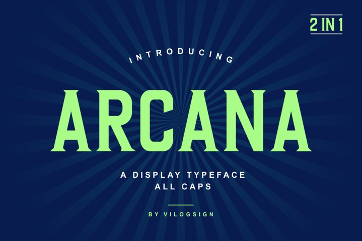 Arcana a Modern Display Typeface