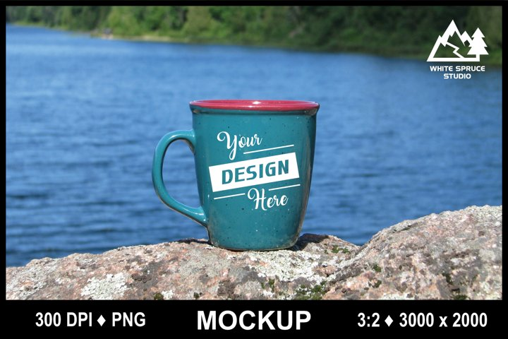 Outdoor Mug Mockup #4 PNG, Scenic Mockup with Mug, Drinkware