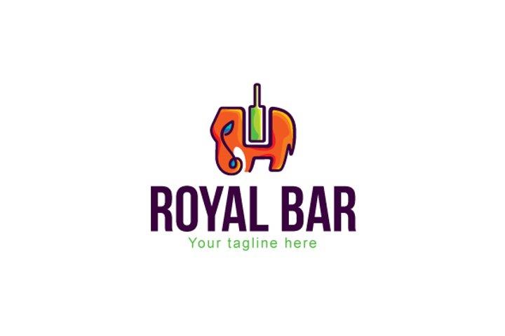Royal Bar - Elephant Animal Stock Logo Template