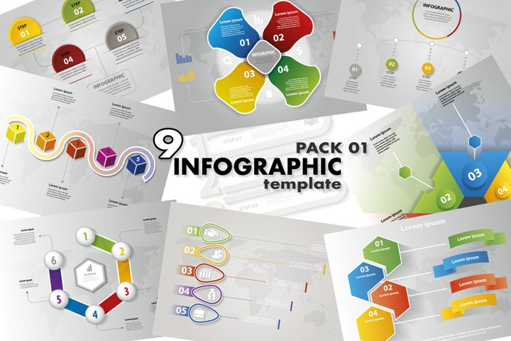 INFOGRAPHIC vector pack 01