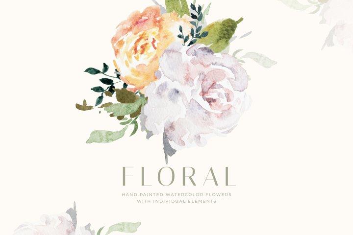 Watercolour Floral Illustration - Vintage