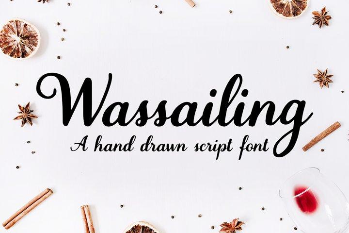 Wassailing - A handwritten script font