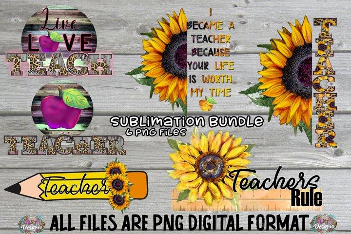 School Teacher Sublimation Bundle Clip Art