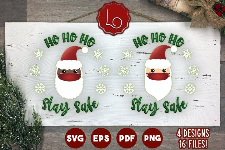 Ho Ho Ho, Stay Safe - Christmas Craft