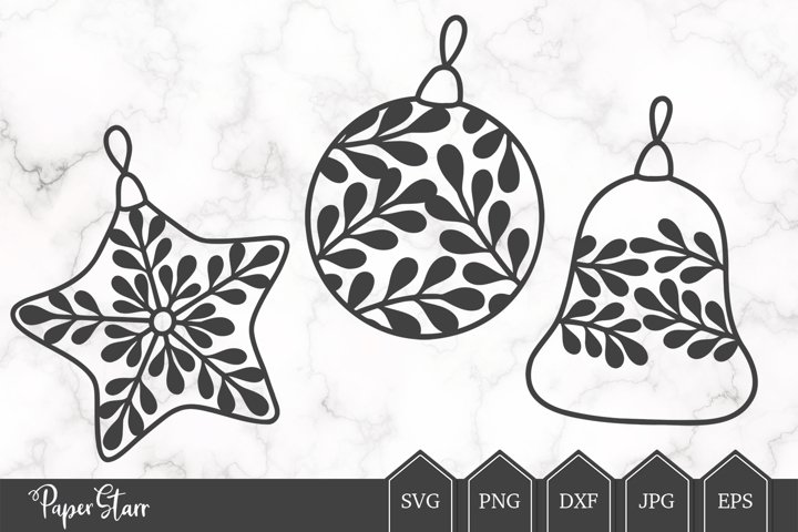 Christmas BaubleSVG Cut File for Crafters