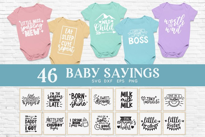 Baby sayings svg bundle - baby onesie svg