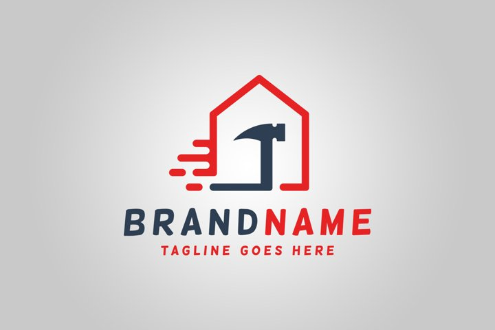 Fast House Repair Logo Template