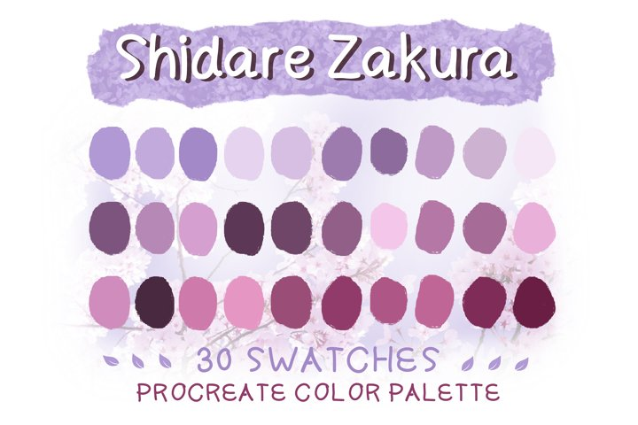 Shidare Sakura Procreate Color Palettes