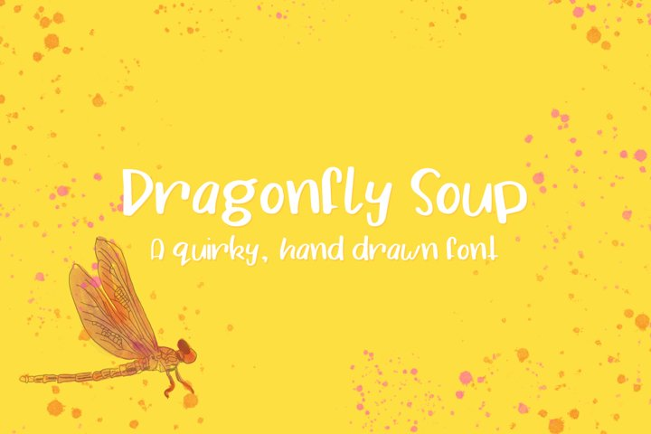 Dragonfly Soup - A quirky hand drawn font example