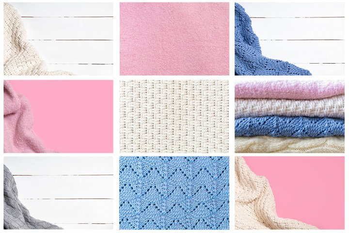 Warm and cozy knitted backgrounds for autumn and winter time