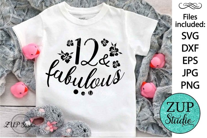 Twelve and fabulous Digital Cutting files file 139