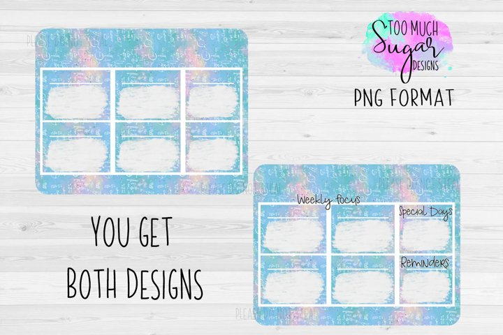 Weekly Focus / Planner / Sublimation / Fits 8x10.3 Substrate