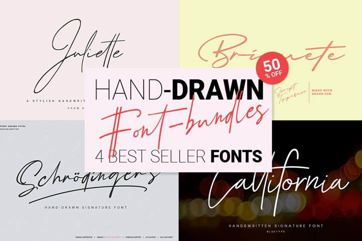 Hand-drawn Script Font Bundle