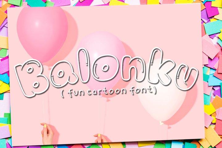 Balonku - Fun Cartoon Font