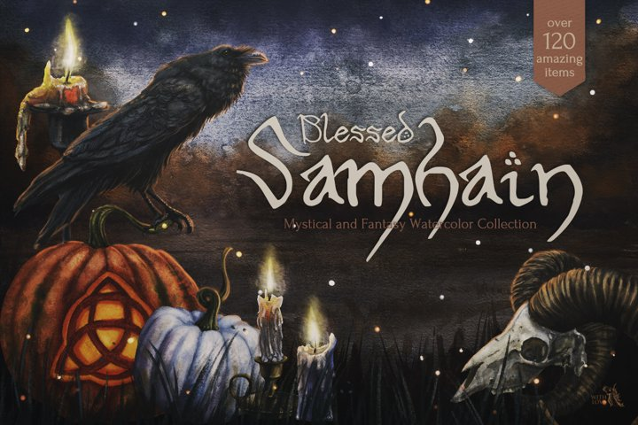 Blessed Samhain Watercolor Set