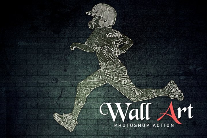 Wall Art Photoshop Action