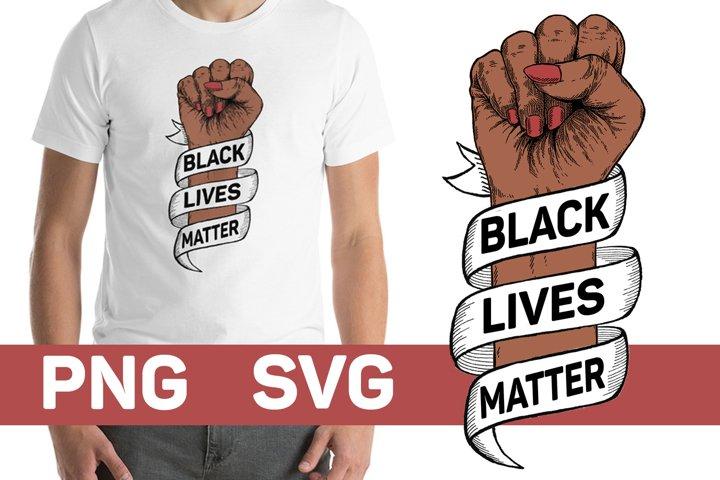 Black Lives Matter American Afro Black Woman Cut File
