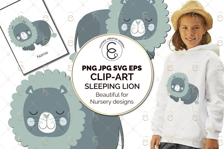 Lion Nursery Scandi Clip Art SVG PNG EPS