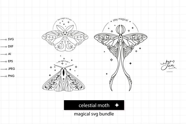 Celestial moth SVG Bundle, trendy womens shirt tee svg