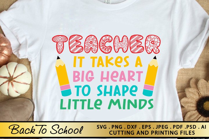 Teacher SVG PNG EPS DXF Files for Cutting and Printing
