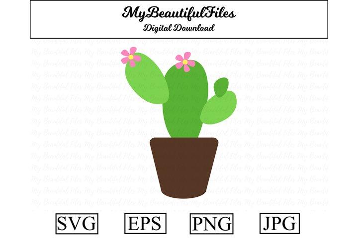 Cactus SVG - Cartoon Cactus SVG, EPS, PNG and JPG