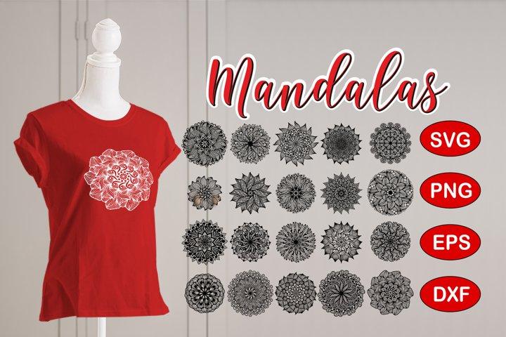 Mandala Bundle SVG, EPS, PNG, DXF files