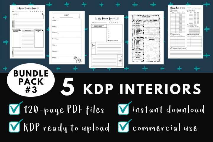 KDP Interior Pack #3 - 5 Templates!