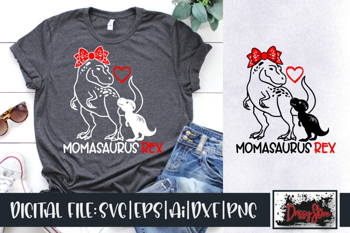 Momasaurus Rex SVG DXF Ai EPS PNG