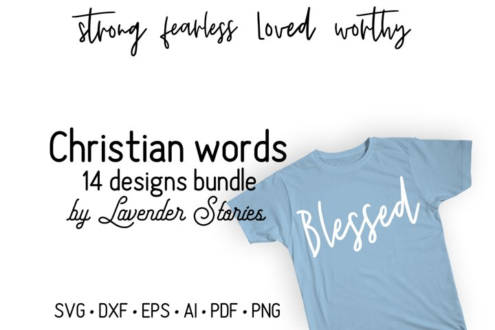 Christian words SVG bundle - Bible verses SVG bundle