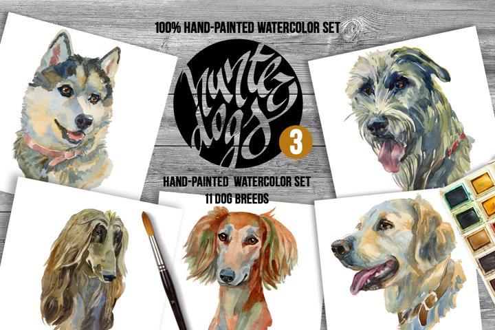 Hunter Dogs Watercolor Set 3