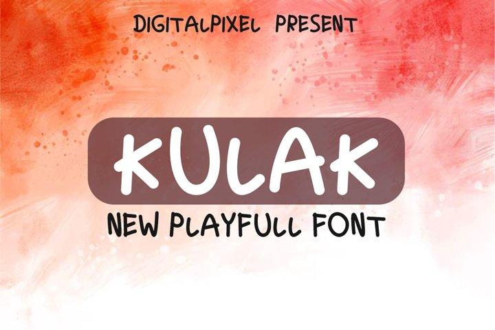 Kulak Display Playfull Font