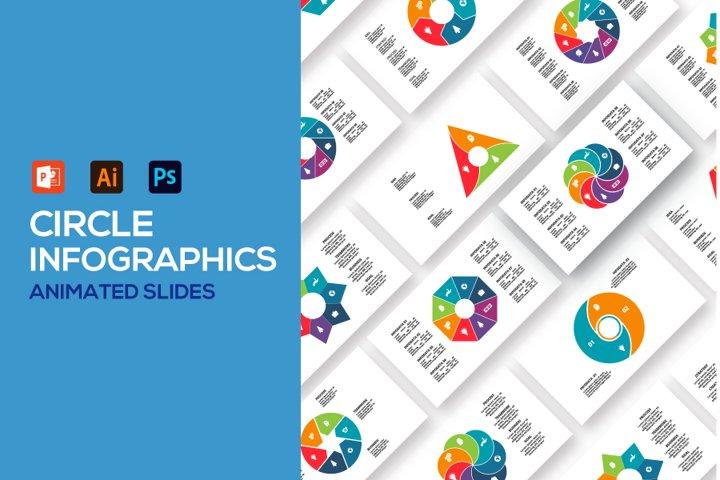 Circle animated infographics