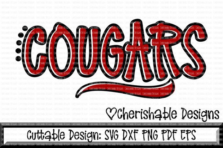 Cougars Sport SVG DXF PNG PDF EPS