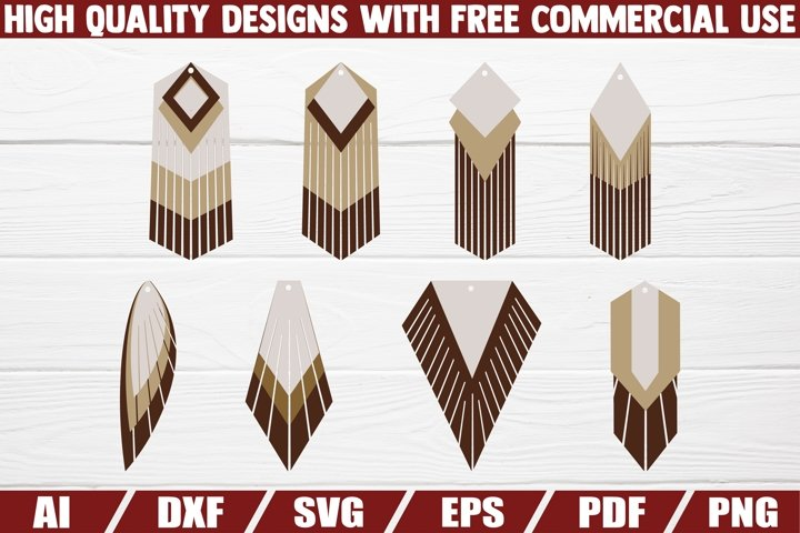 Stacked earrings SVG - pendant - jewelry cut file - template