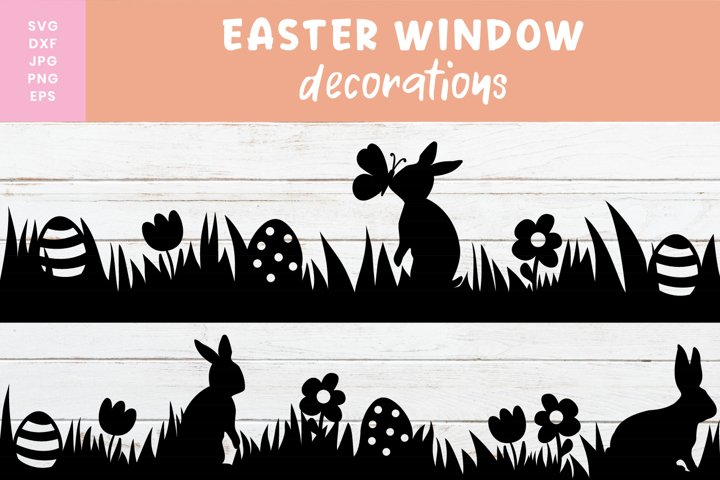 Easter Svg | Easter Window Decoration Svg