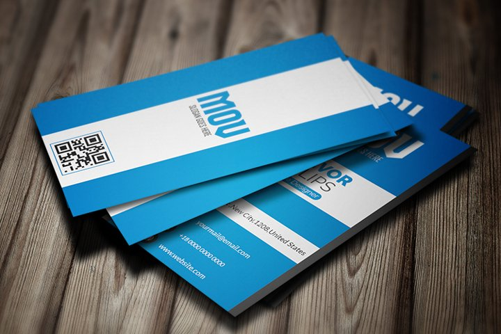 Creative Vertical Business Card Template V3