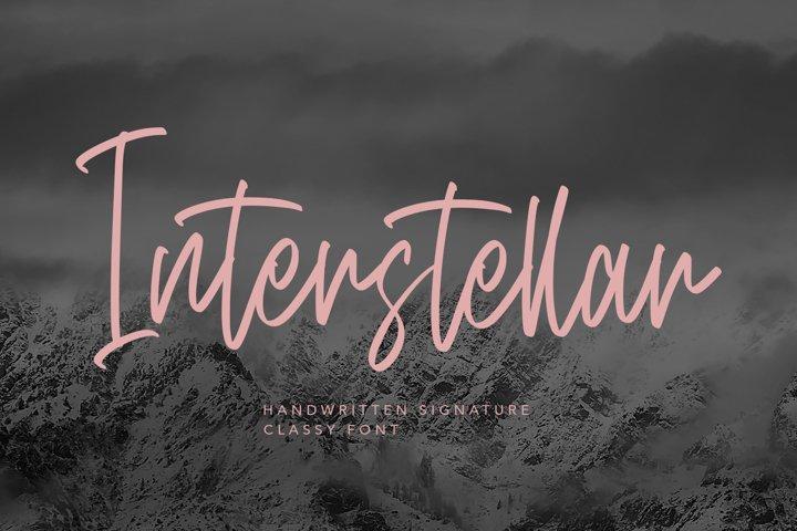 Interstellar - Script Fonts