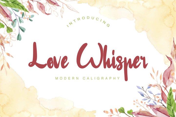 Love Whisper Modern Calligraphy Font