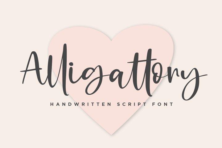 Alligattory Handwritten Script